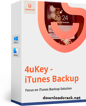 Tenorshare 4uKey iTunes Backup 5.2.10 Crack With Serial Key Free Download