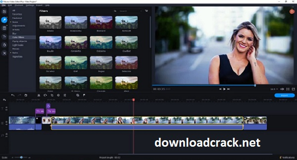 Movavi Video Editor 22.0 Crack With Activation Key 2022 Free Download